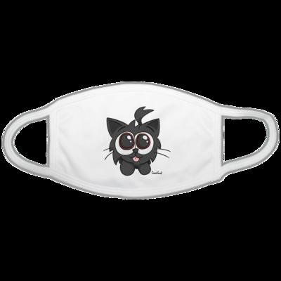 Motiv: Gesichtsmaske - Kätzchen Schwarz