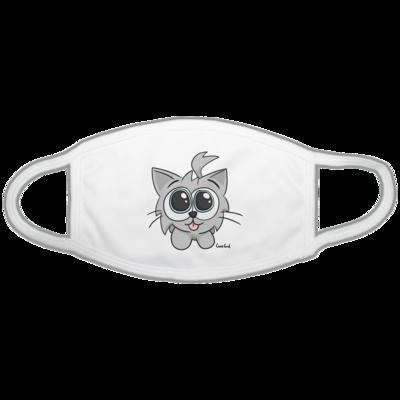 Motiv: Gesichtsmaske - Kätzchen Weiß