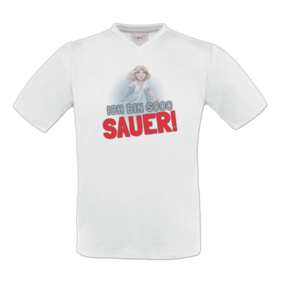 Motiv: T-Shirt V-Neck FAIR WEAR - Mimi sauer