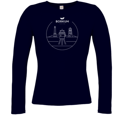 Motiv: Longsleeve Damen Organic - Lighthouse