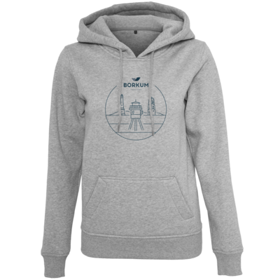 Motiv: Womens Heavy Hoody - Lighthouse