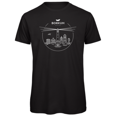 Motiv: Organic T-Shirt - Skyline Borkum (rund)