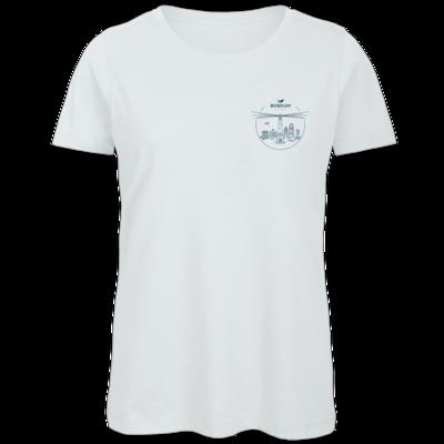 Motiv: Organic Lady T-Shirt - Skyline Borkum (rund)