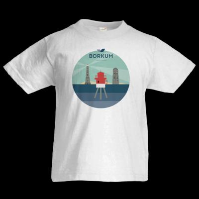 Motiv: Kids T-Shirt Premium FAIR WEAR - Leuchttürme (mehrfarbig)