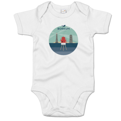 Motiv: Baby Body Organic - Leuchttürme (mehrfarbig)