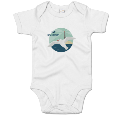 Motiv: Baby Body Organic - Möwe (mehrfarbig)