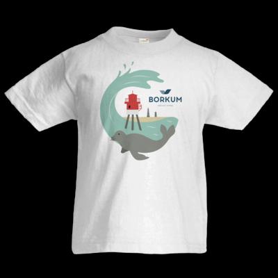 Motiv: Kids T-Shirt Premium FAIR WEAR - Seehund (mehrfarbig)