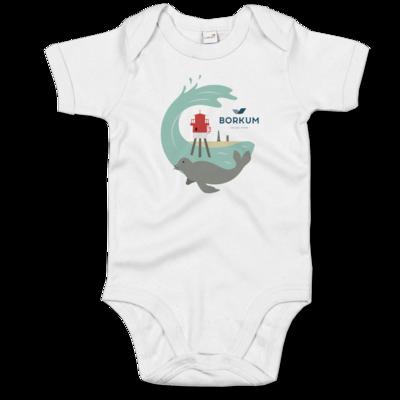 Motiv: Baby Body Organic - Seehund (mehrfarbig)