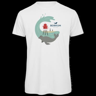 Motiv: Organic T-Shirt - Seehund (mehrfarbig)
