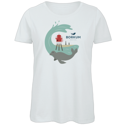 Motiv: Organic Lady T-Shirt - Seehund (mehrfarbig)