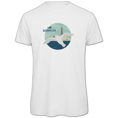 Motiv: Organic T-Shirt - Möwe (mehrfarbig)