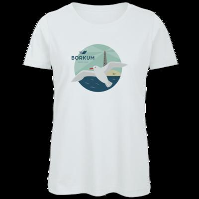 Motiv: Organic Lady T-Shirt - Möwe (mehrfarbig)