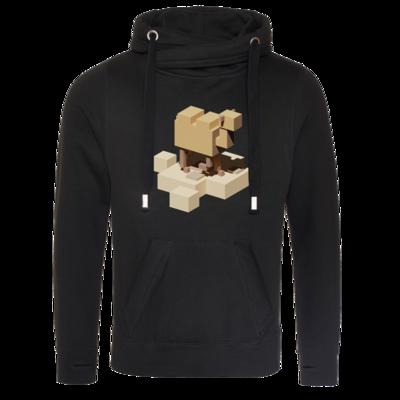 Motiv: Cross Neck Hoodie - Unrailed Camel