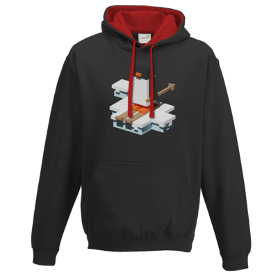 Motiv: Two-Tone Hoodie - Unrailed Penguin
