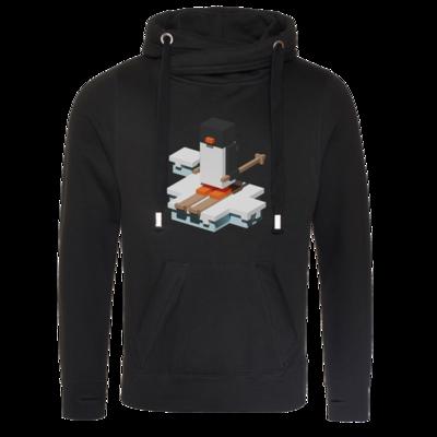 Motiv: Cross Neck Hoodie - Unrailed Penguin