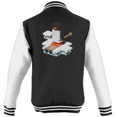 Motiv: College Jacke - Unrailed Penguin
