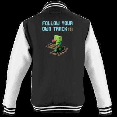 Motiv: College Jacke - Unrailed Frog