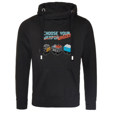 Motiv: Cross Neck Hoodie - Unrailes choose your wagon