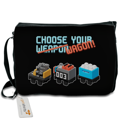 Motiv: Schultertasche - Unrailes choose your wagon