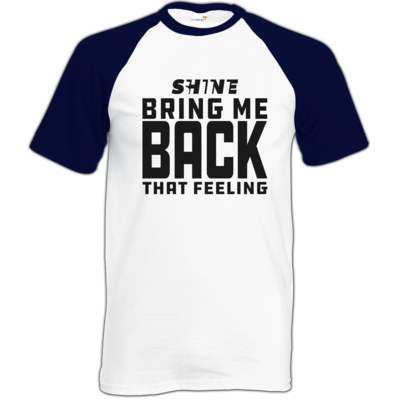 Motiv: Baseball-T FAIR WEAR - Bring me back that feeling