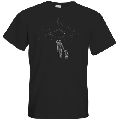 Motiv: T-Shirt Premium FAIR WEAR - fuchsklang star sign / father & son