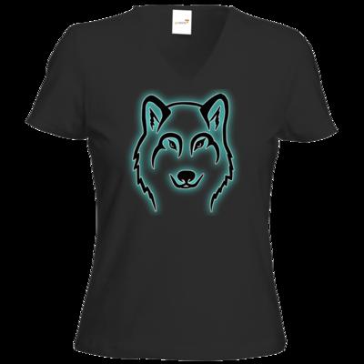 Motiv: T-Shirt Damen V-Neck Classic - Illiya Logo