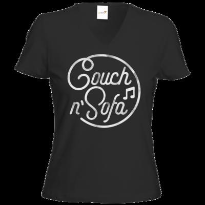 Motiv: T-Shirts Damen V-Neck FAIR WEAR - Couch und Sofa