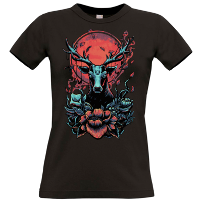 Motiv: T-Shirt Damen Premium FAIR WEAR - Cursed Cervid