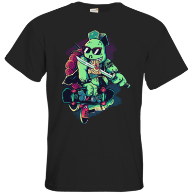Motiv: T-Shirt Premium FAIR WEAR - Cowabunga or Die!