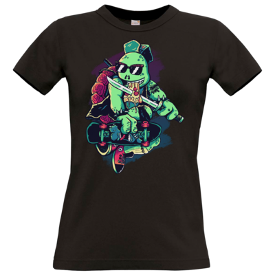 Motiv: T-Shirt Damen Premium FAIR WEAR - Cowabunga or Die!