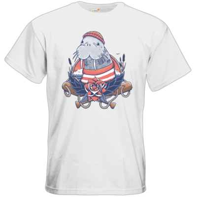 Motiv: T-Shirt Premium FAIR WEAR - Sailor Walrus