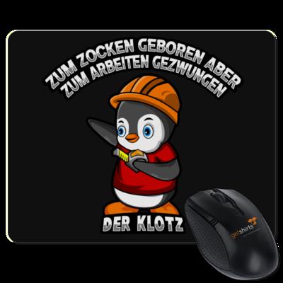 Motiv: Mousepad Textil - Zum Zocken geboren