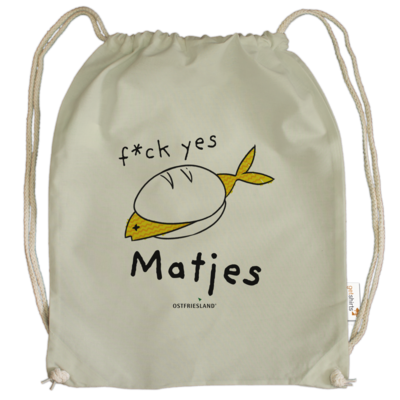 Motiv: Cotton Gymsac - f*ck yes Matjes