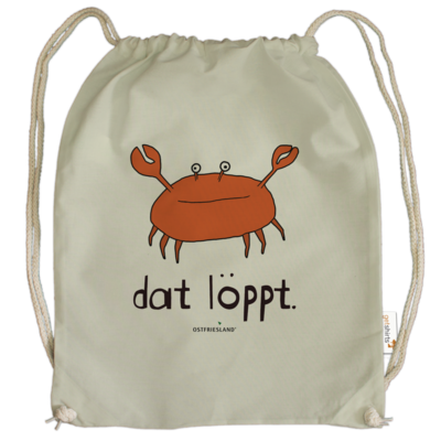 Motiv: Cotton Gymsac - dat löppt. orange