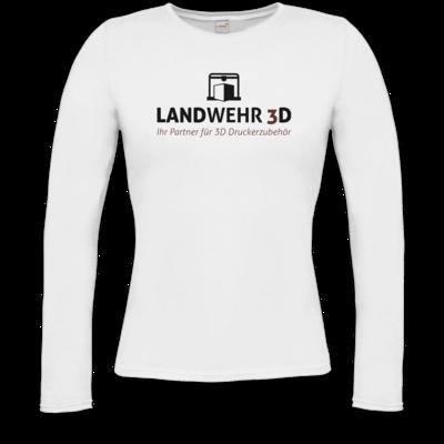 Motiv: Longsleeve Damen Organic - Logo Landwehr 3D