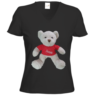 Motiv: T-Shirts Damen V-Neck FAIR WEAR - JULEBÄR
