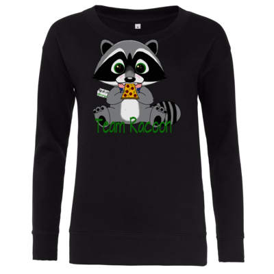 Motiv: Girlie Crew Sweatshirt - Team Racoon