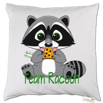 Motiv: Kissen - Team Racoon