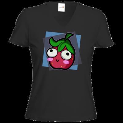 Motiv: T-Shirt Damen V-Neck Classic - Flausche Derp