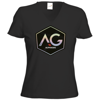 Motiv: T-Shirts Damen V-Neck FAIR WEAR - AG Stream Logo