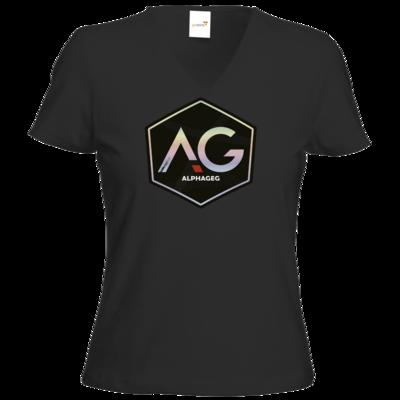 Motiv: T-Shirt Damen V-Neck Classic - AG Stream Logo