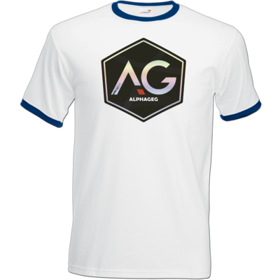 Motiv: T-Shirt Ringer - AG Stream Logo