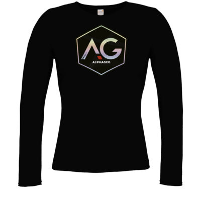 Motiv: Longsleeve Damen Organic - AG Stream Logo