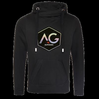 Motiv: Cross Neck Hoodie - AG Stream Logo