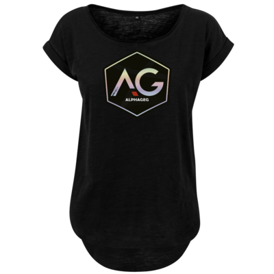 Motiv: Ladies Long Slub Tee - AG Stream Logo