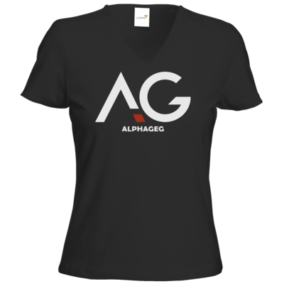Motiv: T-Shirt Damen V-Neck Classic - AG Basic Merch Logo