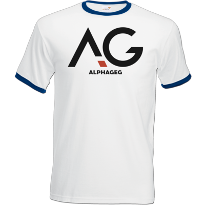 Motiv: T-Shirt Ringer - AG Basic Merch Logo