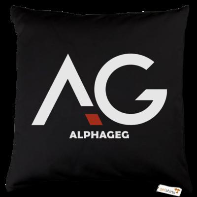 Motiv: Kissen Baumwolle - AG Basic Merch Logo