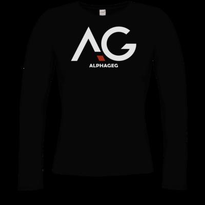 Motiv: Longsleeve Damen Organic - AG Basic Merch Logo