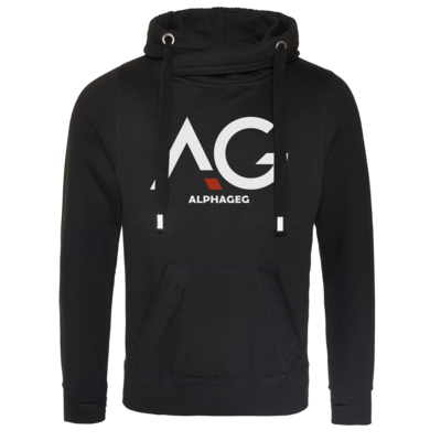 Motiv: Cross Neck Hoodie - AG Basic Merch Logo
